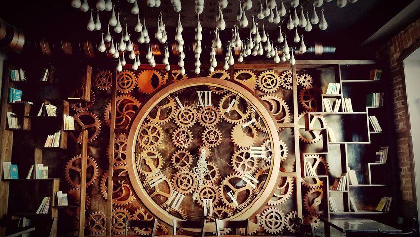 Kinetic Art And Craft Art Creativity Travel Destinations No People Home Is Where The Art Is Focus On Details Vintage Collectible Clock Wheels Wheels Of Time TakeoverContrast The Architect - 2017 EyeEm Awards