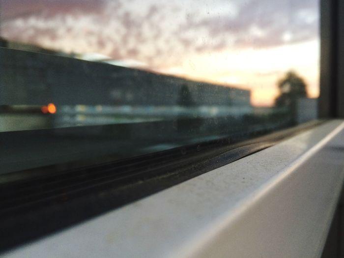 Still Life Dusty Window Amateurphotography Reflection Transportation Vehicle Interior Mode Of Transportation Glass - Material Transparent Window Sky No People Car Sunset Motion Autumn Mood