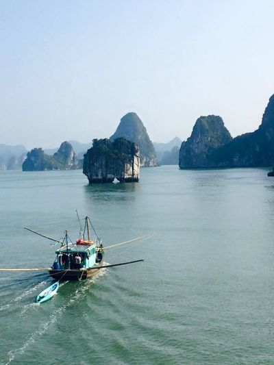 Halong Bay Vietnam Halong Bay  Halongbay HalongbayCruise Vietnam Beauty In Nature Day Halong Mountain Nature Nautical Vessel No People Outdoors Scenics Sea Sky Transportation Water