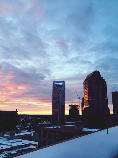 Charlotte City Sunset Pink Photography