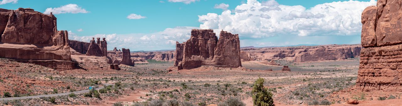The Great West Panorama Arches National Park, Utah USA Moab  EyeEm Selects Sky Rock Formation Rock Nature Non-urban Scene Day Scenics - Nature Rock - Object Tranquil Scene Beauty In Nature Environment Physical Geography