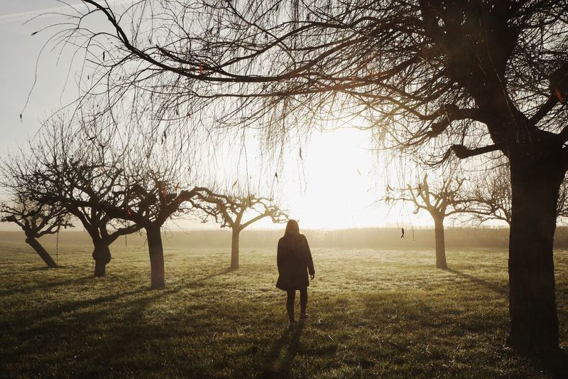 """"""" Sunrise morning """" with my sister. Light And Shadow Getting Inspired Shootermag Eye4photography  EyeEm Best Shots Open Edit Showcase: January Portrait Of A Friend Sunrise Trees Landscape People And Places"""