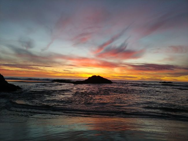 Happy New Year! Sunset Sea Beach Dramatic Sky Water Beauty In Nature Cloud - Sky Scenics Tranquil Scene