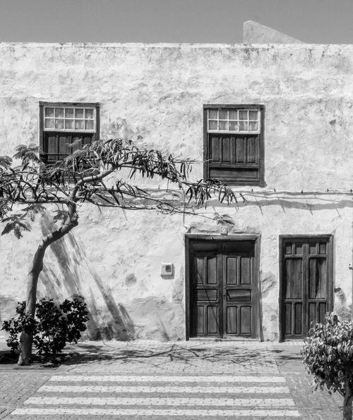 Blackandwhite House Front Tenerife Zebra Crossing