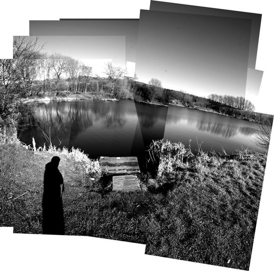 Joiner Pond Photo. Flashback Desaturated Joiner Collage Multiple Layers David Hockney Blackandwhite Lake Shaddow Flashbacks Forgot About This Picture
