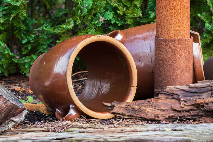 Close-up of rusty pipe