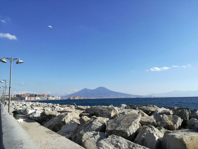 Blue Sky Nature Scenics Day Colours Mergellina, Naples Naples🌊💙 Colour Of Life