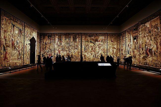 Florence Italy Renaissance Tuscany Arazzo Exhibition Indoors  PalazzoVecchio Tissues