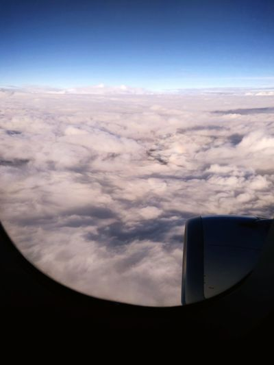 Clouds And Airplane Travela