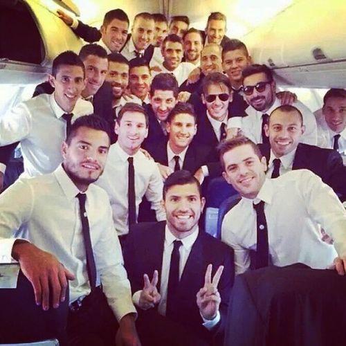Vamos Argentina! Seleccion Copadelmundo Brasil2014 Mundialbrasil2014 buenviaje vamosargentina