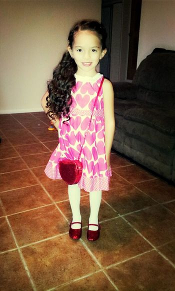 my babysister ready for the father douaghter dance (':