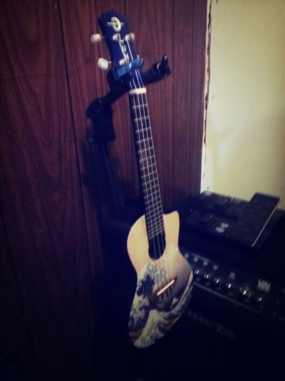 just got my hands on this cool luna ukulele.. this thing is fun