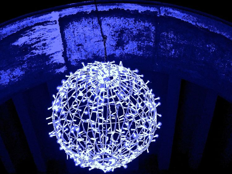 Abstract Best Christmas Lights Blue Design Glowing Light Nite Lights Shiny