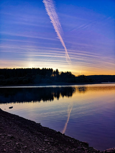 Sunset Cloud Water Forest Trees Reflections In The Water Astronomy Water Lake Reflection Sky Landscape