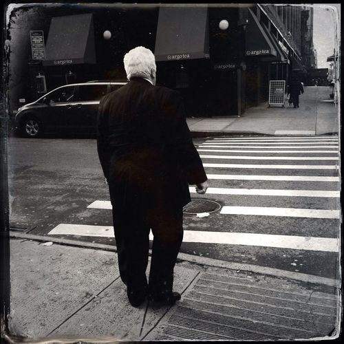 Following The White Haired Man