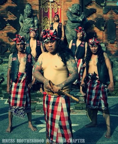 Bikers Brotherhood Mc 1% Motorcycle Club Bali Indonesia Culture we Care Brotherhood For Culture Hello World Creative People Good People