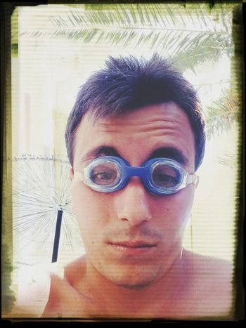 Hanging Out In The Pool Glasses? Non Nude Erotica Selfie Portrait