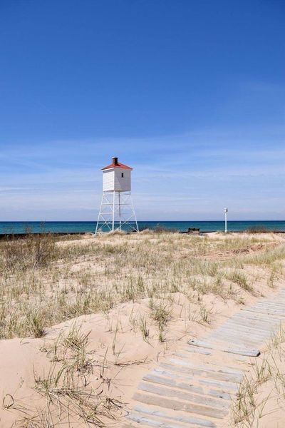 Seascape Ludington Lighthouse Nature Michigan Beach Ludington Lighthouse Ludingtonstatepark