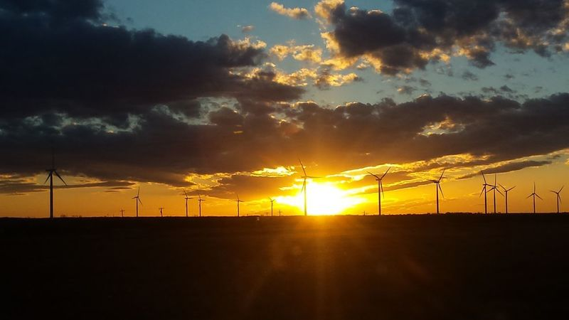 EyeEmNewHere Alternative Energy Fuel And Power Generation Renewable Energy Scenics Sky Sunset Wind Power Wind Turbine
