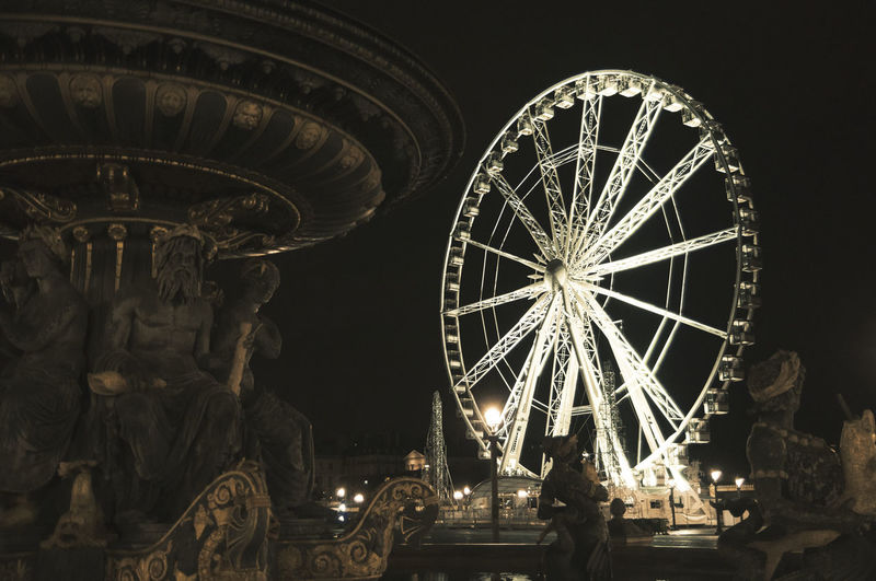 Work Out Spinning Wheel Statue Fountain Monument Sculpture Night Empty Town Big City Life Urban Lights Historical Monuments Tourist Attraction  Linas Was Here