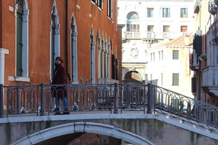 City Day Architecture Real People One Person Women People Venezia Venezia Italia Bridge Walking Sunny Day Girl Power Girl Ponte Veneziadavivere Asian Girl