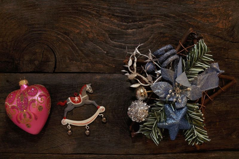 Christmas Vintage Christmas Decoration Presents B4 Christmas Toy Photography Toys Happiness Holiday Moments House Wooden Family Retro Styled Vintage Style Christmas Decoration Christmas Celebration Table High Angle View Wood - Material Close-up christmas tree Christmas Ornament Christmas Stocking Santa Claus Christmas Lights