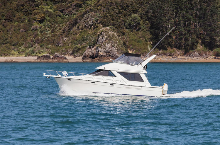 Motor yacht in Bay of Islands, New Zealand Bay Of Islands Boating Coastline New Zealand Scenery Boat Close-up Cruising Full Length Motion Motor Yacht Motorboat Nautical Vessel New Zealand One Person Sea Side View Single Object Speedboat Splashing Unrecognizable Person Wake Water Weekend Activities White Yacht