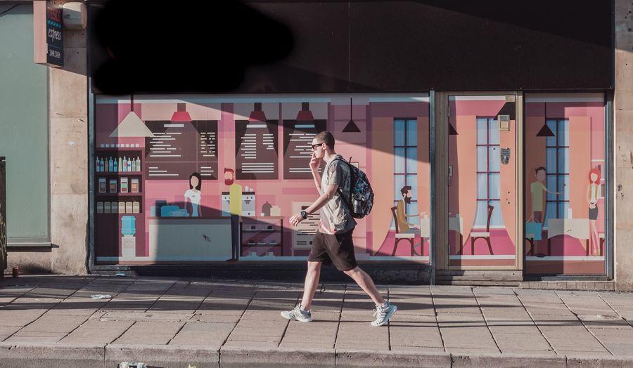 Directions Walking City Walking Around The City  Pink Urban Streetphotography Full Length City Long Hair Graffiti Street Art Pretty Mural