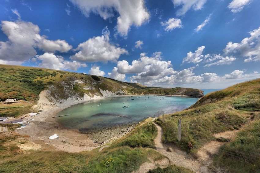 Dorset Tranquil Scene Water Scenics Tranquility Sky Beauty In Nature Non-urban Scene Mountain Sea Nature Cloud - Sky Tourism Cloud Day Calm Blue Outdoors Vacations Majestic Countryside