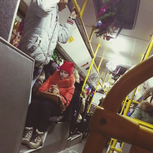 Happynewyear Bus Passenger Tyumen' Тюмень