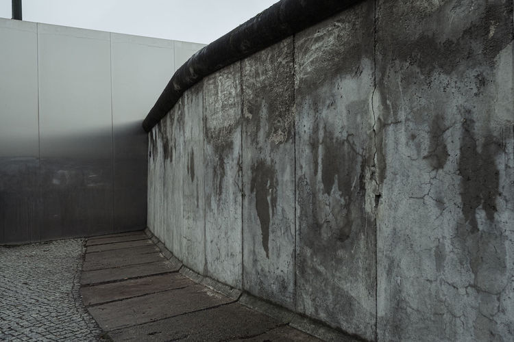 View of old building wall