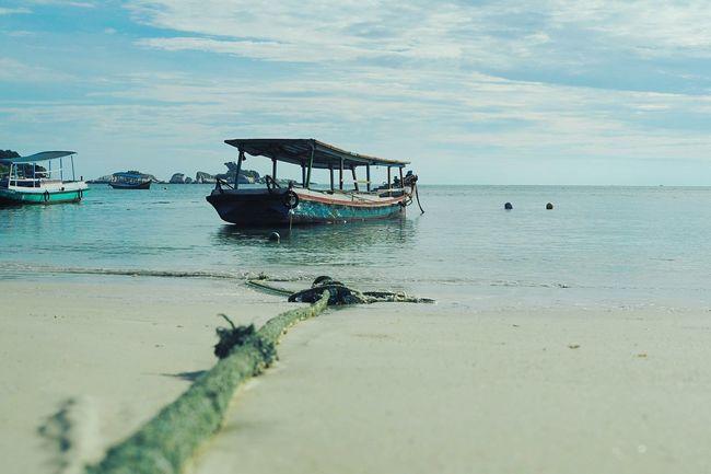 The Essence Of Summer INDONESIA EyeEm Indonesia Beach Sun Sky Boat Belitung Belitung Island