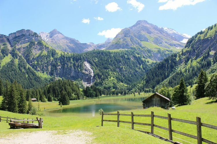 Mountain Landscape Beauty In NatureScenics No People Nature Sky Mountain Range Travel Destinations Outdoors Tranquil Scene Tranquility Mountain Peak Water Night Tree Lauenensee