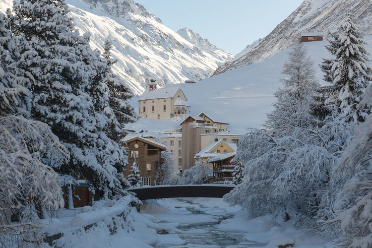Church Andermatt  Beauty In Nature Building Exterior City Cold Temperature Day House Mountain Nature No People Snow Swiss Swiss Alps Switzerland Tree White Color Winter
