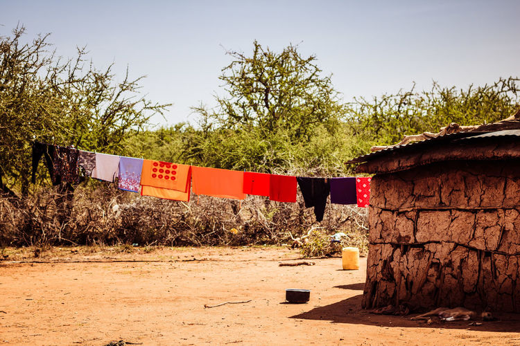 Desert Drought Kenya Laundry Tanzania Africa African House Colorful Cow Dung House Hut Maasai Masai Masai House Sand Summer Traditional Warm Water Tank An Eye For Travel EyeEmNewHere An Eye For Travel