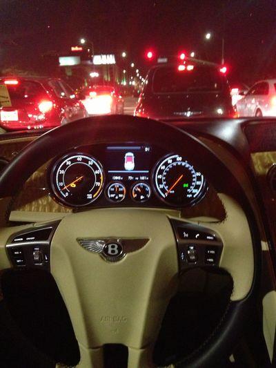 Bentley GTC Taking Photos Traffic Jam Hello World