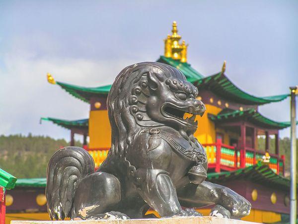 Buryatia Ulan-Ude Buryatia, Russia, Ulan-Ude Streetphotography Outdoors Sculpture No People Architecture Religion Cultures Budhist Temple Buddism Buddist Temple Datsan A New Beginning