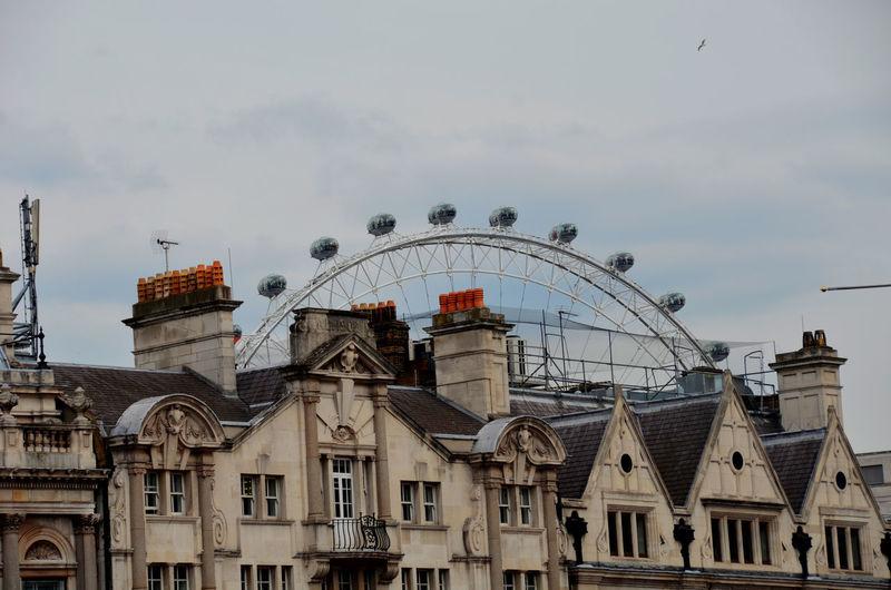 Views, London Amusement Park Amusement Park Ride Architecture Arts Culture And Entertainment Building Exterior Built Structure Day Ferris Wheel Low Angle View No People Outdoors Sky