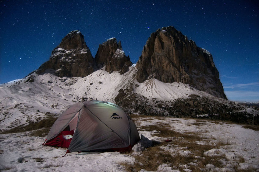 Adventure⛺ Outdoors Landscape Star - Space Beauty In Nature Nature Nikon Dolomites Tranquility Space And Astronomy Msr Moon Star Artofvisuals Natgeolandscape Optoutside Awesomepix Calm Beautifulplace Mountain Dreams EyeEm Nature Lover Enjoying Life Scenics Landscape Finding New Frontiers