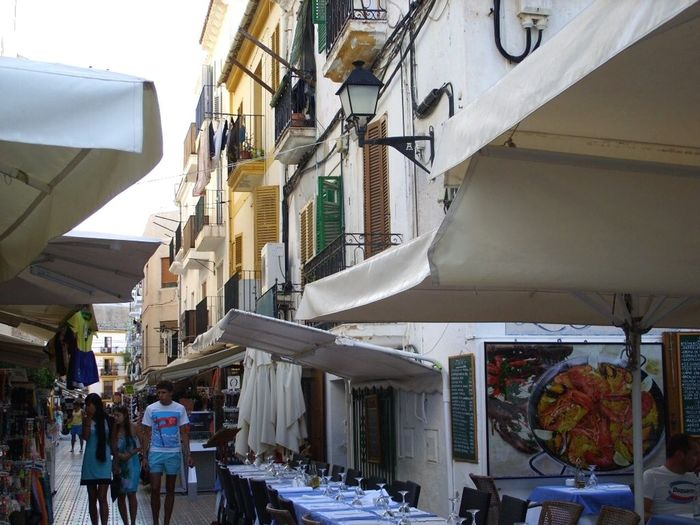 Ibiza Old City Dalt Vila Ibiza SPAIN Vacations Travel Building Exterior Residential District Day City Street