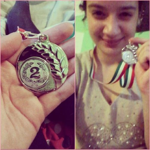 I am proud of myself.!! ♥♥ Medal FirstMedal Silvermedal Firstjudomatch IAMHAPPY smile bigsmile