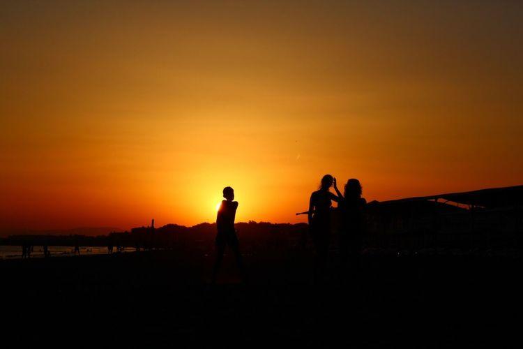 Sunset Shillouette Beach Sun
