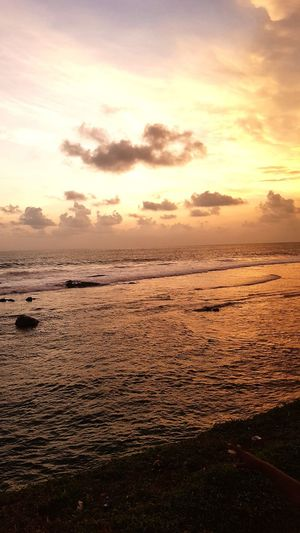 Sunset Beach Sea Dramatic Sky Beauty In Nature Nature Scenics Horizon Over Water Galle Fort