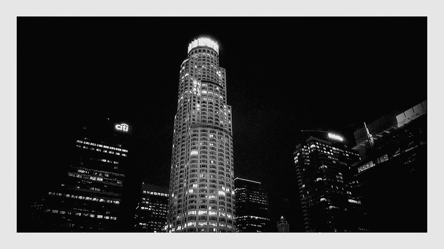 Take me to La La land Los Angeles, California Black And White Black And White Collection  City Lights Date Night Cityscape City View  Downtown Los Angeles The Standard Hotel View Top Of Buildings Lights Lights And Shadows Night Photography Night Time Midnight Cities At Night Battle Of The Cities