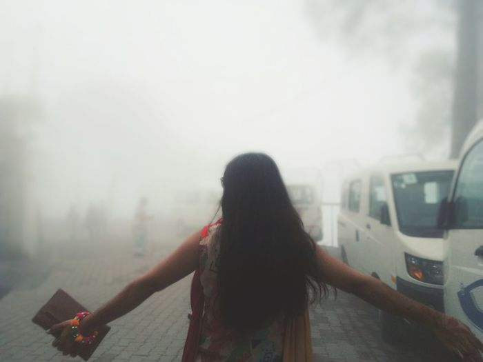 enjoy to the fullest. Naturephotography Clouds City Women Fog Rear View Beauty Long Hair Sky Tall - High Foggy Mist Weather Monsoon Urban Skyline Hiker Visiting Settlement Residential Structure Office Building Tower A New Beginning 50 Ways Of Seeing: Gratitude A New Perspective On Life International Women's Day 2019