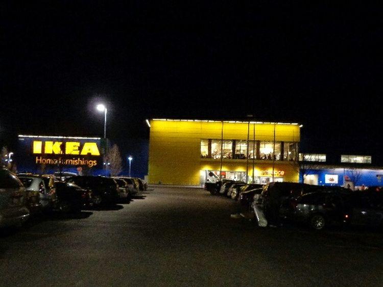 Wintertime Night Photography Beautiful IKEA