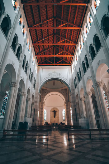 Architecture Built Structure Building Arch Indoors  Arcade Religion Architectural Column History The Past Flooring Ceiling Place Of Worship Belief Travel Destinations Corridor Incidental People Day Travel Tiled Floor Entrance Hall Luxury