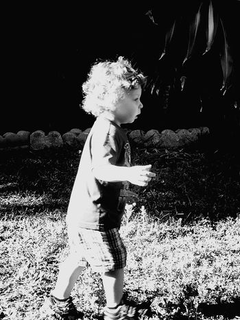 Chasing Chase in B&W Babies Kids B&w