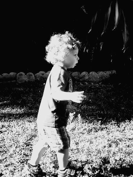 Chasing Chase in B&W Babies Kids B&w