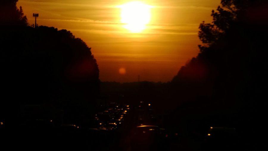 Against the Grain Sunrise Sunrise_Collection Traffic Interstate 20 I 20 Lithonia Georgia 20 East Atlanta Atlanta Ga Reverse Commute The City Light